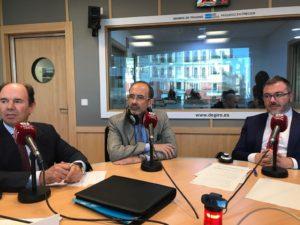 Aurelio López-Barajas, Jorge Moyano y Javier Zubicoa