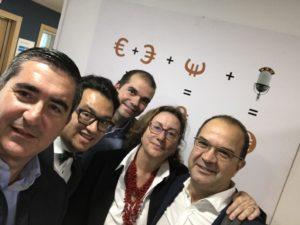 Francisco García Cabello, Juan Domingo Palermo, Javier Sánchez Reyes, Marta García y Enrique Zorrilla