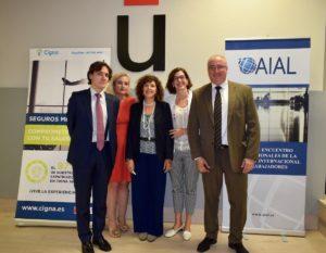 Luis Pérez Juste, Concepción Esther Morales, Fe López, Pilar Cascón y Javier Flores