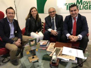 Pablo Martín, Angelines Basagoiti, Federico Montilla y Francisco García Cabello