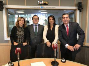Ángeles Alcázar, Salvador Farrés, Elena Cascante y Francisco García Cabello