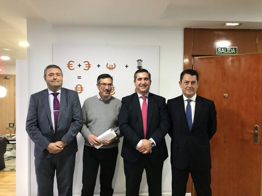 Juan Pablo Borregón, Luis Vicente Muñoz, Francisco García Cabello y Juan Carlos Pérez Espinosa