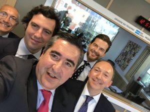 Alfonso Jiménez, Ignacio Cochuelo, Francisco García Cabello, Alberto Ogando y Pedro Lerma