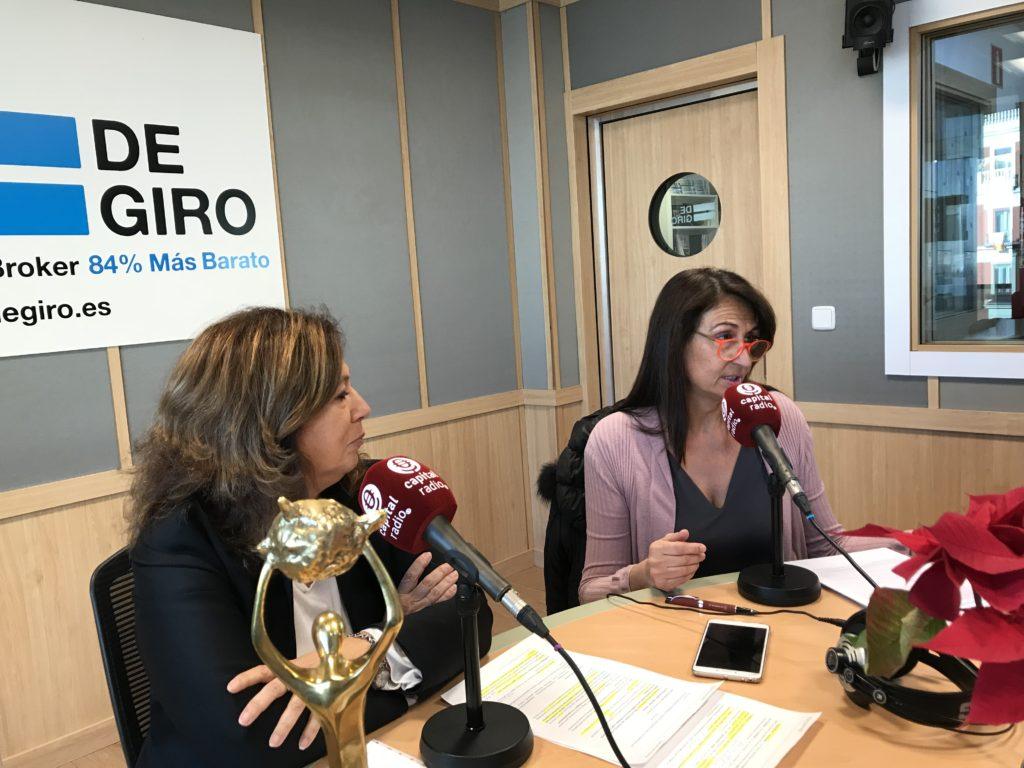 Ángeles Alcázar y Elena Cascante