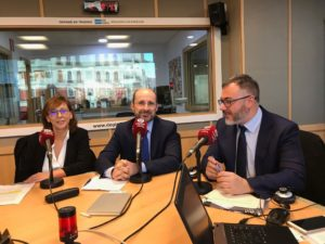 Alejandra Mendez, Antonio Casado y Javier Zubicoa