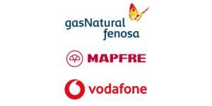 Gas Natural Fenosa, Mapfre y Vodafone