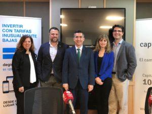 Ángeles Alcázar, Adrián Cepedal, Francisco García Cabello, Aurora Arjones y Francisco de la Calle