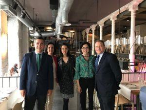 Francisco García Cabello, Begoña López-Varela, Vanesa Fernández, Elena Giménez y Luis López