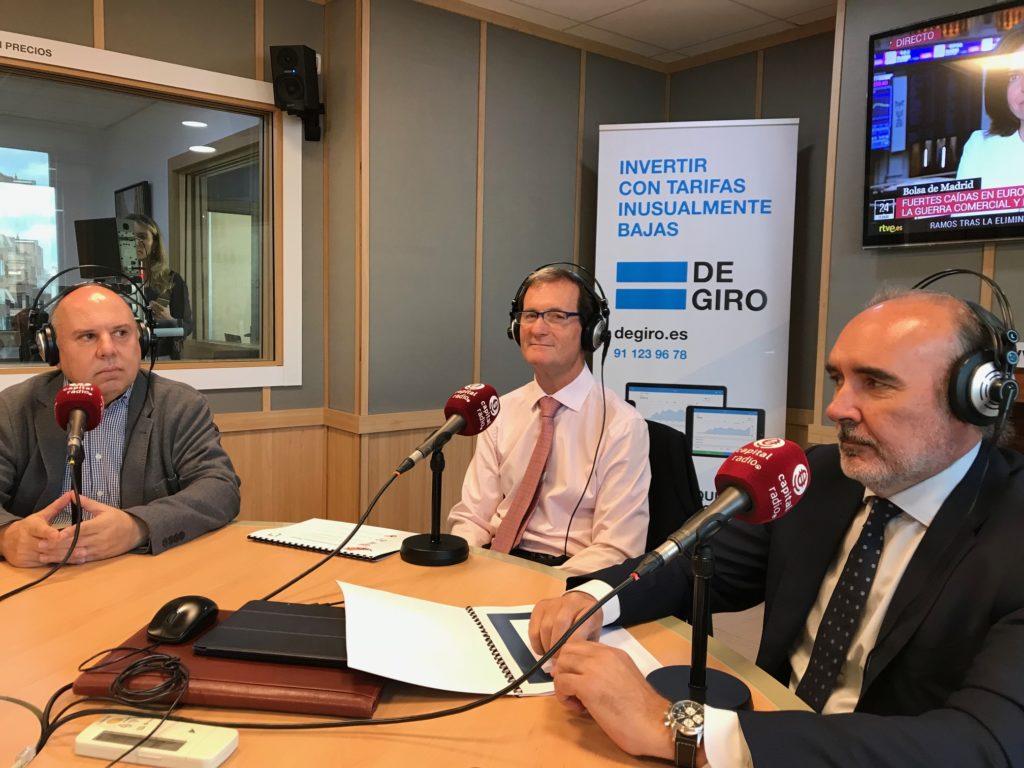 José Ignacio Arraiz, Diego Sánchez de León y Plácido Fajardo