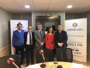 Jesús Vega, Salvador Farrés, Francisco Puertas, Ángeles Alcázar y Francisco García Cabello