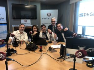 Eduardo Porro, Alicia Zamora, Luis Expósito, Juan Manuel Rueda y Francisco García Cabello