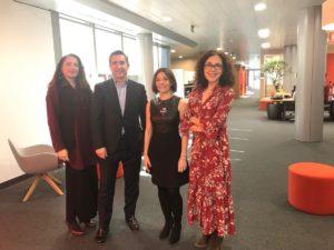 Nuria Sánchez, Francisco García Cabello, Mónica García-Ingelmo y Elena Giménez