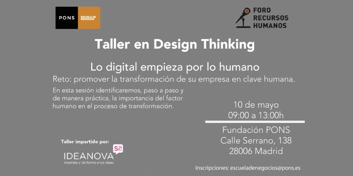 Design Thinking en PONS